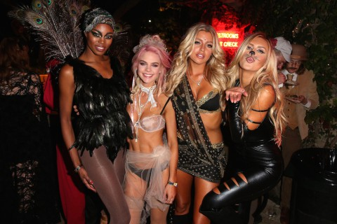 LOS ANGELES, CA - OCTOBER 24:  Playboy Playmates attend the annual Halloween Party, hosted by Playboy and Hugh Hefner, at the Playboy Mansion on October 24, 2015 in Los Angeles, California.  (Photo by Joe Scarnici/Getty Images  for Playboy)